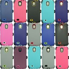 For Samsung Galaxy S4 Plain Case Cover(Belt Clip Holster fits Otterbox Defe