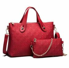 Women's Luxury Debossed Square Pattern Composition Long Handbag /2pcs Set