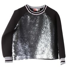 MSGM FELPA BAMBINA CON PAILLETTES, SWEATSHIRT FOR GIRL, WINTER, MADE IN ITALY