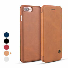 Genuine G-Case Leather Slim Flip Card Holder Cover Case for iPhone 5 6 6S 7