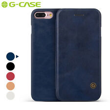 G-Case Business Genuine Leather Slim Flip Card Cover Case for iPhone 5 6 7