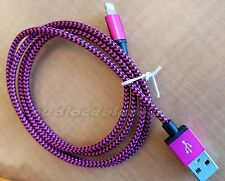 Strong Braided USB Charger Cable Data Sync Charge Cord for iPhone 5/5+/6/6+