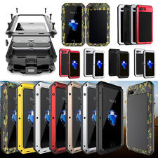 Shockproof Aluminum Metal Hard Case Cover + Tempered Glass For iPhone & Sam