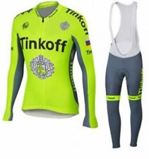 Ropa ciclismo entretiempo: Tinkoff maglie set maillot cycling otoño pants jersey