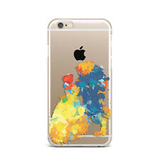 Beauty Beast Cartoon Art Design Silicone Rubber Gel Case For IPhone 4S 5S 6