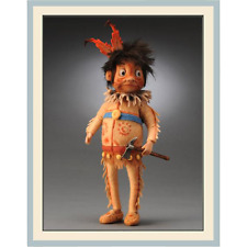 R. John Wright Indian Brownie Doll Palmer Cox $535.00 Brand New In Box Artist