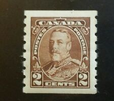 CANADA, 1935, MNH, XF, GEORGE V COIL STAMP, Sc 229, SG 353, 2 CENT BROWN.