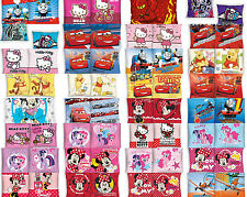 FEDERA CUSCINO COVER FODERA 40 x 40 CM COTONE CARS MINNIE THOMAS WINNIE