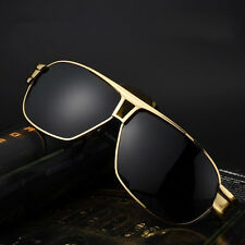 Mens HD Polarized Aviator Sunglasses Outdoor Driving Fishing Glasses Eyewear