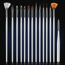 15pcs Nail Art UV Gel Design Brush Set Painting Pen Manicure Tips DIY Tools Kits