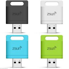 ZSUN Wireless Wifi USB Card Reader IOS and Android Expand iPhone 6 Note5 Storage