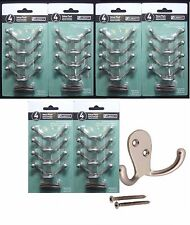 24 liberty double prong robe hook matte nickel 4 hooks pack total 6 packs