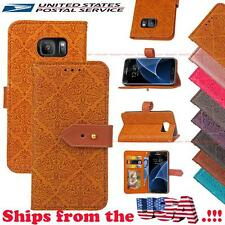 Flip Book PU Leather Wallet Stand Case Cover for Samsung Galaxy S Note J7 A
