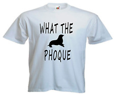 T-SHIRT WHAT THE PHOQUE Humour drôle fuck S a XXL Homme neuf