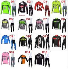 Equipacion ciclismo entretiempo set longsleeve cycling maillot jersey ropa velo