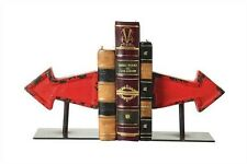 Set of Red Cast Iron Arrow Bookends