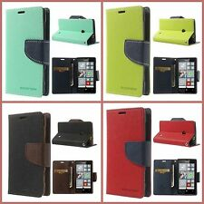 Mercury Goospery Fancy Diary Leather Case Flip Cover for Nokia Lumia 525
