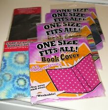 6 Stretchable Book Covers - Assorted Colors / Designs
