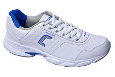 COLUMBUS BRAND MENS CASANOVA WHITE SKY CASUAL LACE SPORTS SHOES