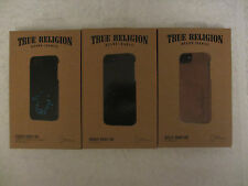 NEW TRUE RELIGION Brand Jeans Snap-On Leather Case Cover Apple iPhone 5 5S