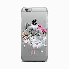 Cute Art Kitten Ultra Thin Rubber Gel Silicone Case For Apple iPhone 5 6 7
