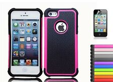 Rugged Rubber Hard Shockproof Cover Case for Apple iPhone 5S