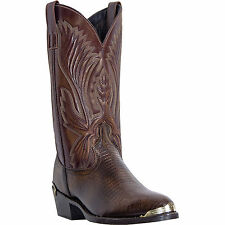 Laredo Mens Tan Antique Lizard Print Leather New York 12in Cowboy Boots