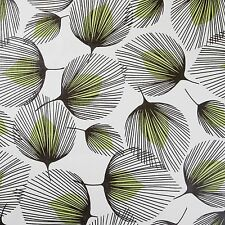 Floral Green Feather Wipeclean PVC Vinyl Tablecloth 140cm Width
