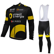 Ropa ciclismo entretiempo: Direct Energie maglie maillot cycling otoño pants