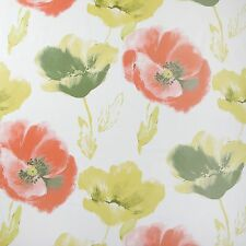 Green Red Poppies Floral Design Wipeclean PVC Vinyl Tablecloth Multiple Sizes