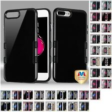 For Apple iPhone 7 & 7 Plus 2-Piece TPU Hard Fusion Case Bumper Phone Cover