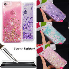 Hybrid Liquid Glitter Shockproof Case Cover for iPhone 6S 7 + 9H Glass Prot
