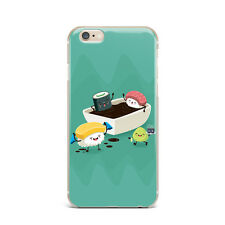 Cute  Sushi Funny Food Design Silicone Rubber Gel Case For IPhone 4S 5S 6S