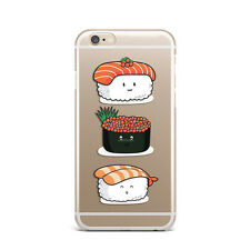 Cute Kawaii Sushi  Food Design Silicone Rubber Gel Case For IPhone 4S 5S 6S