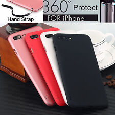 Upgrades Ultra Thin 360° Full Body Case For iPhone Models, Tempered Glass