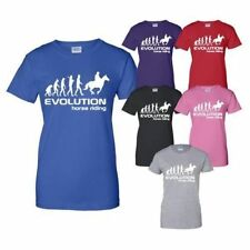 Evolution Of Horse Riding Adult Mens Womens T-Shirt Gift Size S-XXL