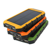 Best 18000mAh Solar Panel 2A 1A Battery Power Bank  Portable Phone Charger F7JVZ