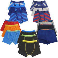 3/6Pack Boys Kids Trunks Boxer Shorts Keyhole Cotton Elasticated Waist Underwear