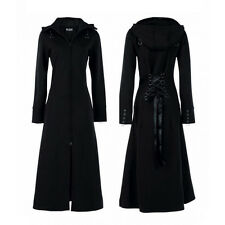 Long Gothic Coat Black Poizen Industries Raven Long Manteau Noir Gothique Corset
