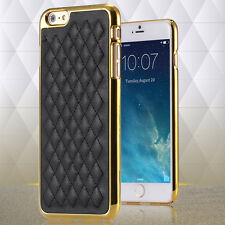 Luxury Classic Grid sheepskin PU Leather Case Cover For iPhone 6/6s, Retail