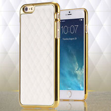 Luxury Classic Grid sheepskin Leather Back Cases For iPhone 6/6s PLUS,Retai