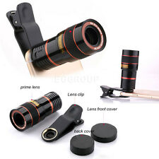 US Clip-on 8X Zoom Phone Camera Telephoto Telescope Lens For Cell Phone iPh
