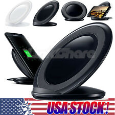 USA Charge Stand For Samsung Galaxy S7 Note 5 Wireless Charging Pad Qi Char