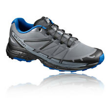 Salomon Wings Pro 2 Mens Grey Cushioned Running Road Sports Shoes Trainers