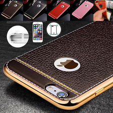 Luxury Ultra Thin Shockproof Leather Back Case Cover For Apple iPhone 6S 7