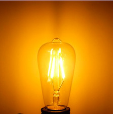 Dimmable Vintage Retro E27 ST58 4W LED COB Warm White Filament Edison Bulb