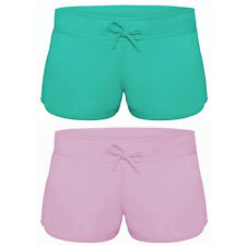B&C Womens Ladies Girl Cotton Beach Shorts Hot Pants Gym Holiday Cotton Terry
