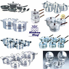 Kitchen Catering Cookware Pot Pans Saucepan Wok Frypan Stock Pot Stew Soup Set