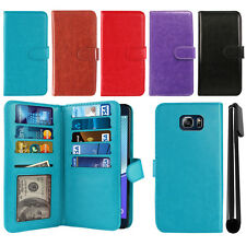 For Samsung Galaxy Note 5 N920 Flip Magnetic Card Holder Wallet Cover Case
