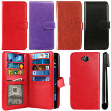 For Microsoft Nokia Lumia 650 Flip Magnetic Card Holder Wallet Cover Case +